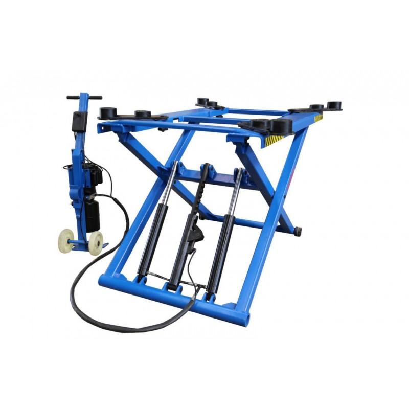 OreikO poetsbrug / verplaatsbare schaarhefbrug 2800kg blauwe reeks