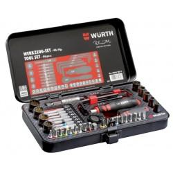 Würth Multidoppen/bitset, RW-uitvoering, 46-delig