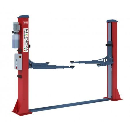 Symmetrische 2-palenhefbrug, hydraulisch met een mini-vloerplaat – 5T.