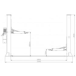OreikO BJST3500 2 kolomshefbrug - manueel - 3500 kg - 220V - CE