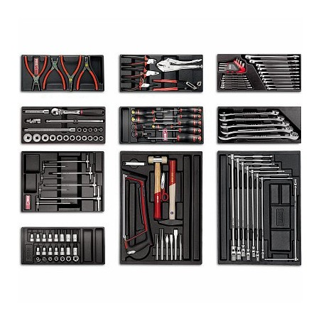 USAG 518 S6A2 Roller cabinet with Assortment for car repair (120 pcs.)