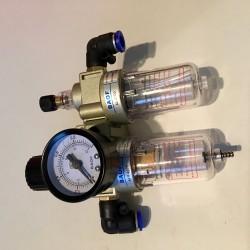 Dehumidifier / Pressure regulator / Oil atomizer for compressed air