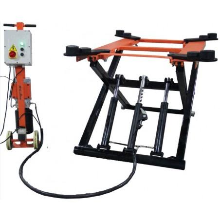 OreikO HYYD2800 Verplaatsbare schaarhefbrug poetsbrug 2800kg - 220V - CE