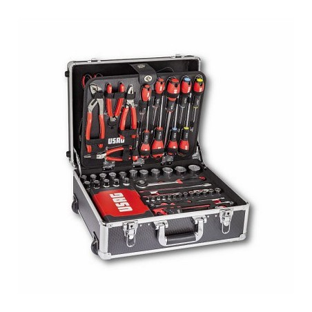 USAG 002JTM TOOL TROLLEY WITH ASSORTMENT FOR MAINTENANCE 181pcs