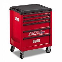 USAG 516 SP6A-S Gereedschapswagen Start met 151 stuks gereedschap voor automotive / onderhoud voertuigen