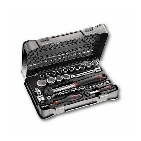 USAG 606 1/4-1/2 EA Assortiment zeskant dopsleutels in ABS doos 30 stuks