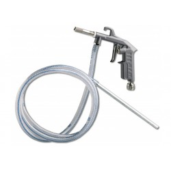 Sandblasting gun with suction pipe