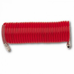 SELF-STORING RILSAN HOSES WITH 1/4 FIXED AND SWIVELLING MALE CONNECTORS