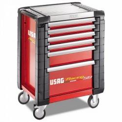 USAG 519 R6 / 3A-S Werkzeugwagen USAG Racing (6 Schubladen) mit Sortiment 149 Stück (3 Schubladen) für die Automobilindustrie