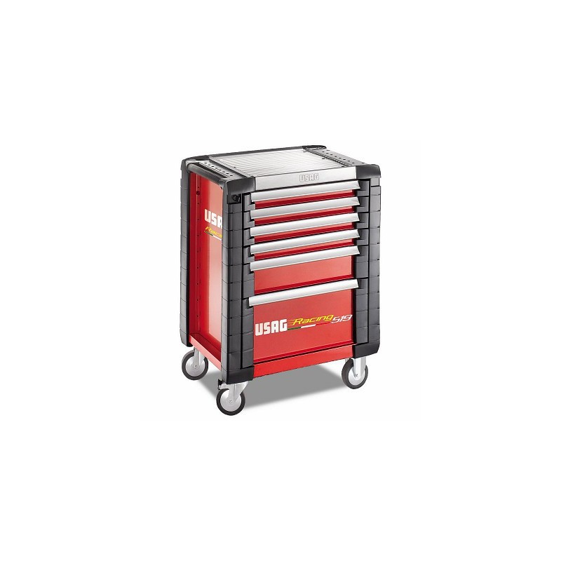USAG 519 R6 / 3A-S Tool trolley USAG Racing (6 drawers) with assortment 149 pieces (3 drawers) for the automotive industry