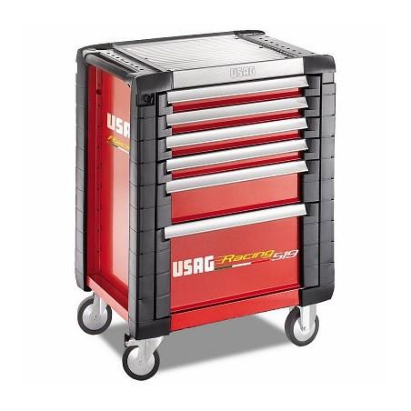 USAG 519 R6 / 3A-S ServanteUSAG Racing (6 tiroirs) avec assortiment de 149 pièces (3 tiroirs) pour l'industrie automobile